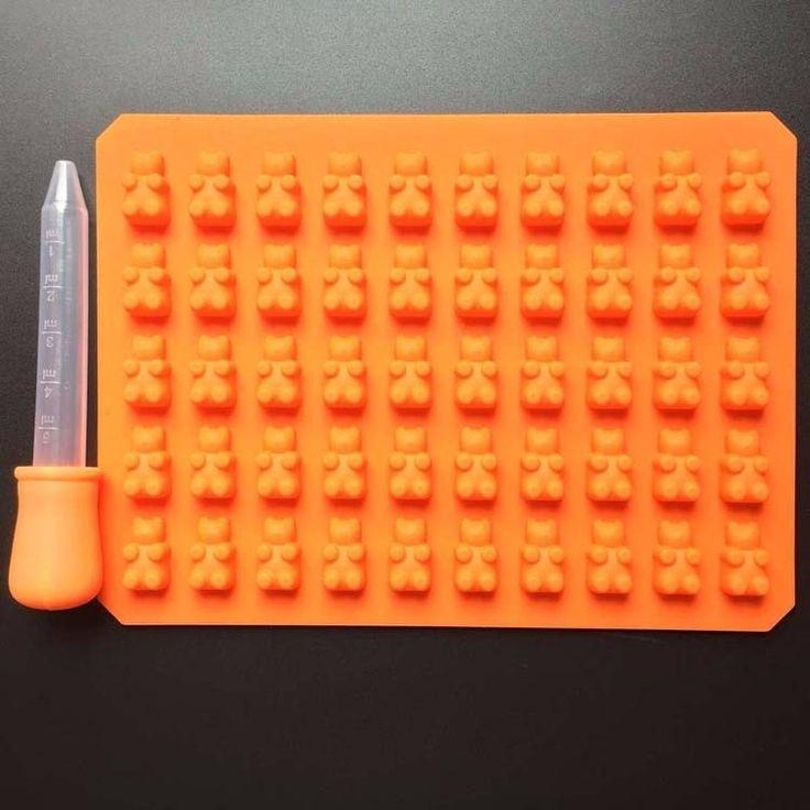 50 Cavity Silicone Gummy Bear Shape Mold