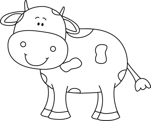 cow clipart simple - photo #18