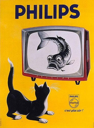 A nightmare. Vintage Poster - Philips - TV - Television