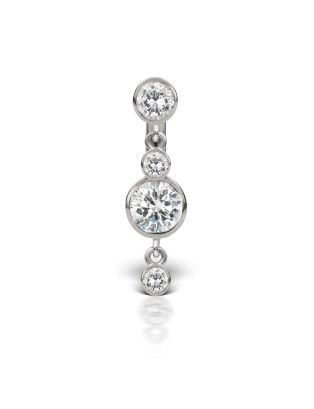3-4 Cubic Zirconia with Double Dangle Barbell Image #1