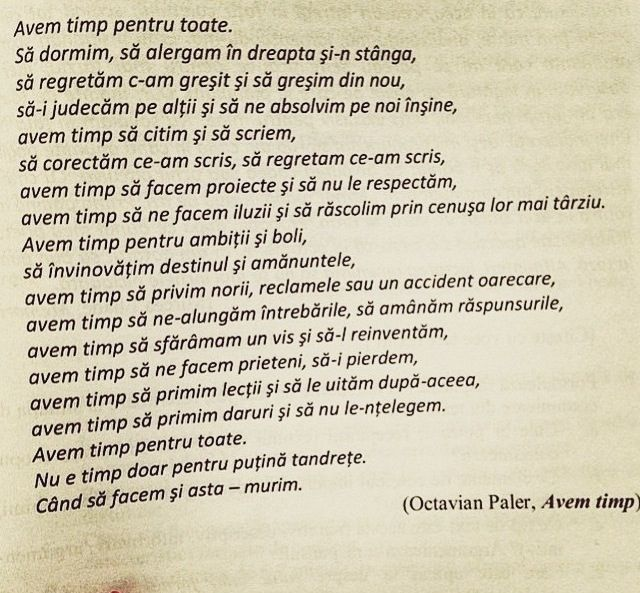 Octavian Paler- avem timp