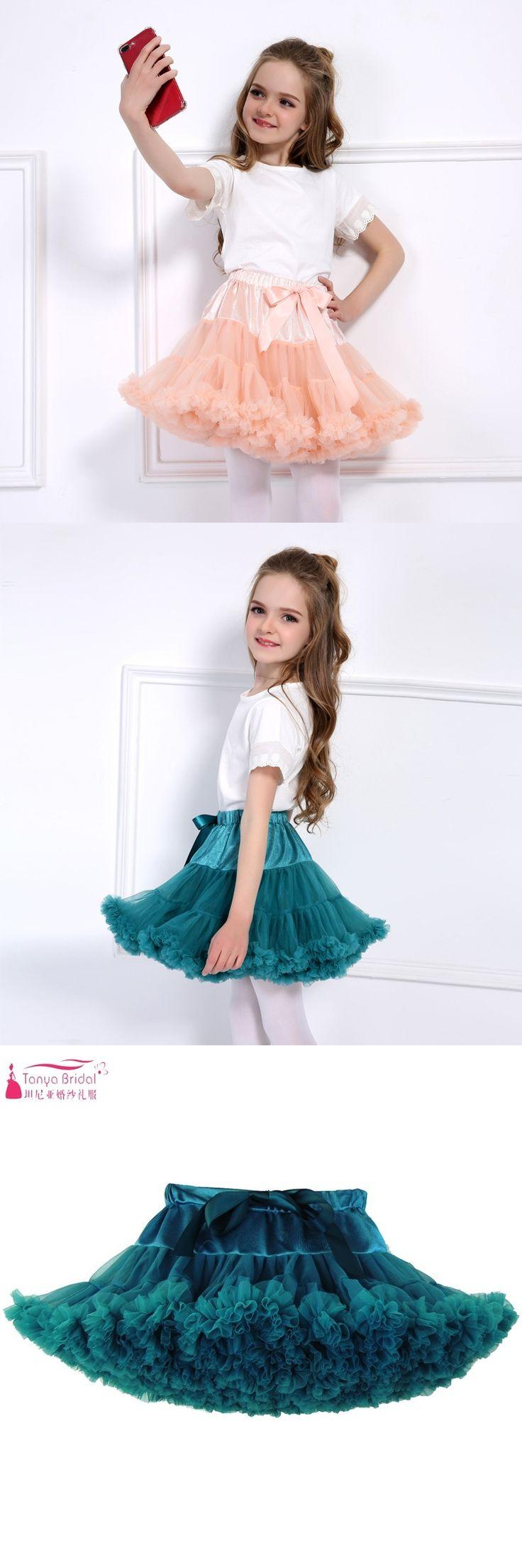Turquoise Little Girl Tutu Dress Tiered Short Mini Light Blue Pink Tutu Skirt Party Dresses Flower Girl Dresses
