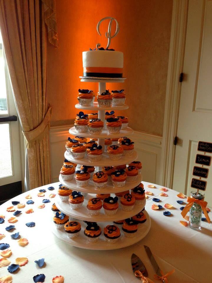 Wedding cake white cupcakes with strawberry