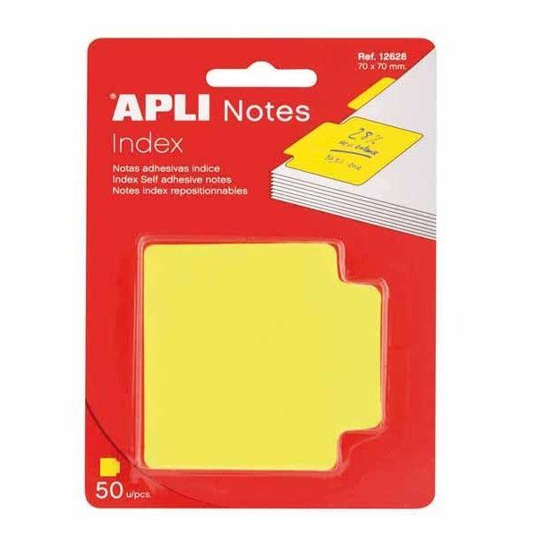Comprar Indices Adhesivos Color Amarillo 70x70 Apli 12628  #oficina #tienda #notas #indices #adhesivas #colores #rollo #bloc #taco