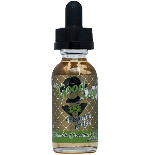 Pistachio Man by Mr. Good Vape - Its Chocolate Mint Pistachio with a french vanilla ice cream undertone carried by a slight hint of dark burley tobacco from Italy. Pistachio Man is a rich, bold, complex exotic flavor that was made for connoisseurs by connisseurs from the Godfather of Vaping Mr. Good Vape .