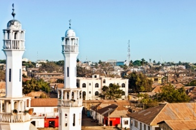 The King Fahad Masjid is one of the most prominent mosques in Banjul, the capital city of Gambia.