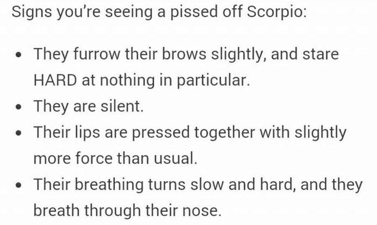 Pissed off Scorpio