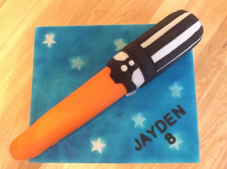 Lightsaber cake