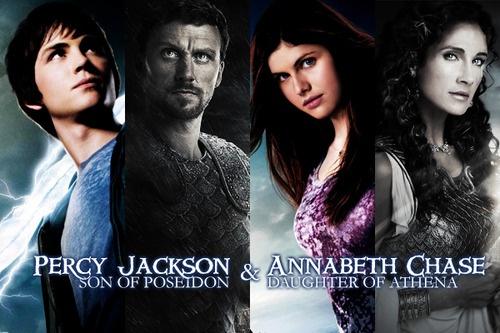 "They all look so dramatic! Percy's like: ""I saved the world."" Poseidon's like: "" Told ya, Zeus!"" Annabeth has that look: ""I always win."" I can imagine Athena saying: "" Yep. I killed a spider."""
