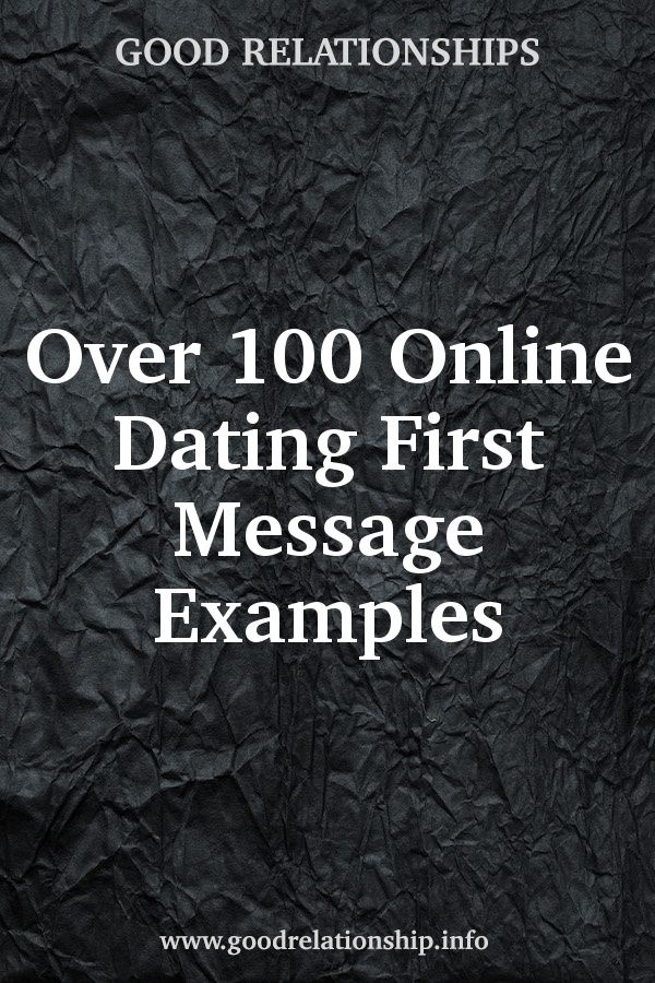 Online dating first message examples