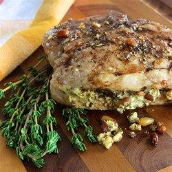 Pesto Stuffed Pork Chops - Allrecipes.com. OMG! YUM! Make this ASAP!