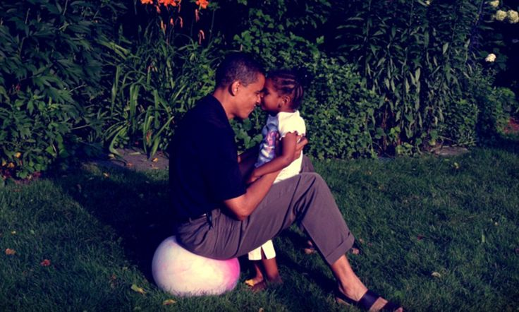 President Barack Obama today released an old picture of him and his young daughter Sasha, now 12,  in honor of father's day.