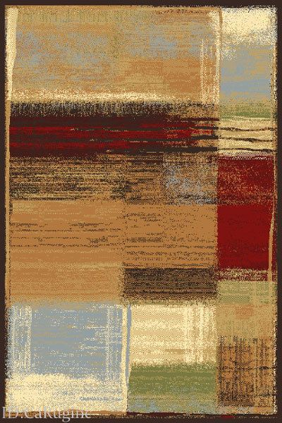 "8x10  Area Rug Abstract  Contemporary Modern  Design  Actual Size 7'3""x10' New #Modern"