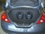 "Nissan Altima Dual 12"" Custom Subwoofer Box"