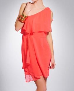 Coral Toga Dress. Love.
