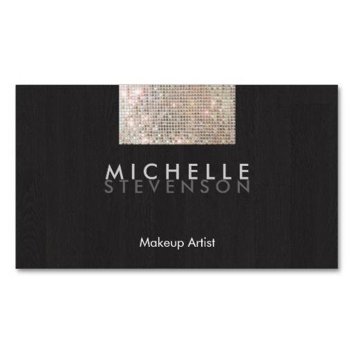 214 best design consultant business cards images on pinterest makeup artist modern stylish faux sequin black business card colourmoves Images