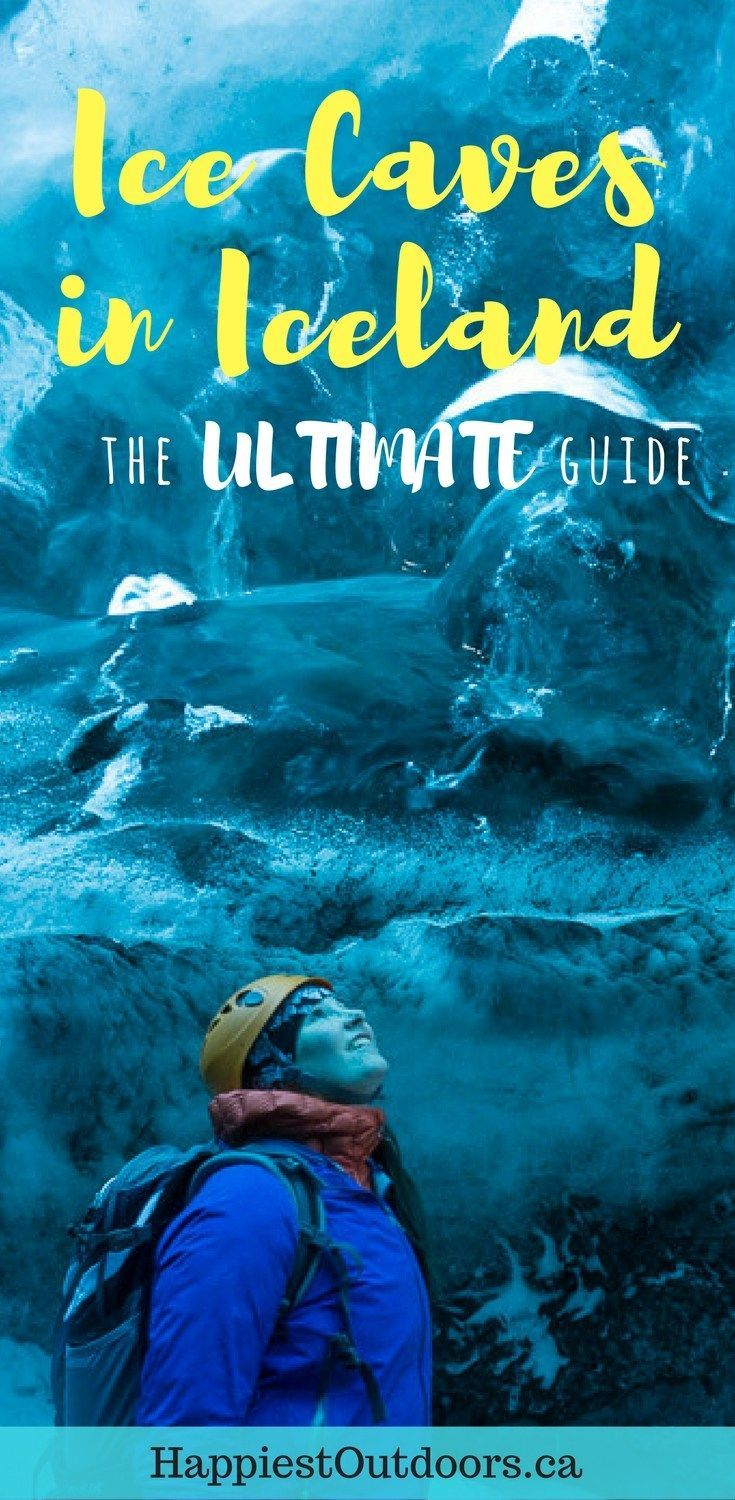 The Ultimate Guide to Ice Caves in Iceland: Everything you ever needed to know about visiting ice caves in Iceland. Find out how to go INSIDE the Crystal Cave glacier ice cave and see the blue ice.