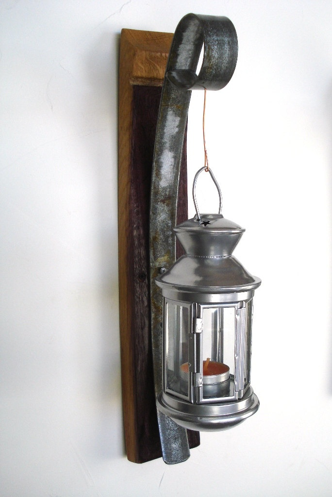 hanging candle lanterns wall hanging candle holder with lantern 100 recycled 28607