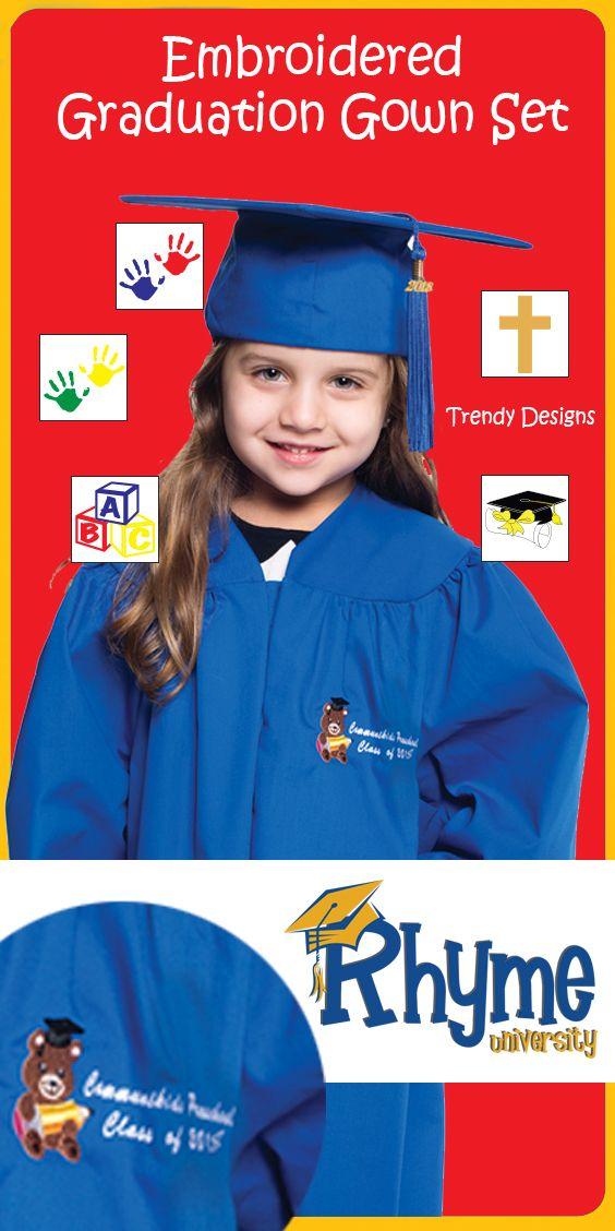 Take your Preschool and Kindergarten graduation apparel up a notch ...