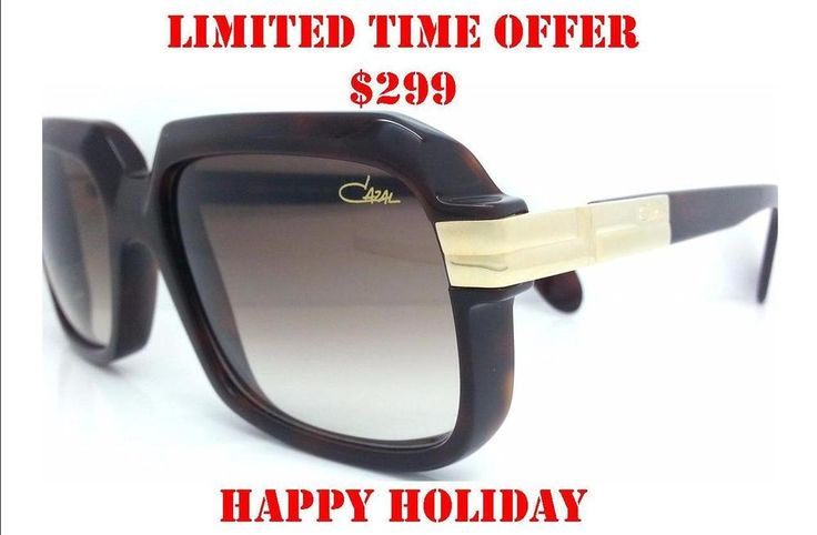 CAZAL 607 80 Sunglasses LEGEND VINTAGE BROWN GOLD AUTHENTIC RUN DMC NEW German  #CAZAL #Square