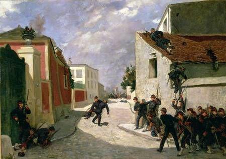 Titre de l'image : Antoine Louis Francois Sergent-Marceau - Jean-Paul Casimir-Perier (1847-1907) bringing back his Captain in 1870