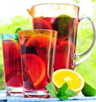 Recipe: Lighter Sangria Punch Summary: Unfortunately, calories still count when you consume them through a straw, but look how light and refreshing this Sangria Punch is. Ingredients 1qt. (4 cups) cold reduced-calorie cranberry juice cocktail 1cup cold orange juice 1Tbsp. fresh lime juice 1 packet CRYSTAL LIGHT Raspberry Ice Flavor Drink Mix 3 cups cold …
