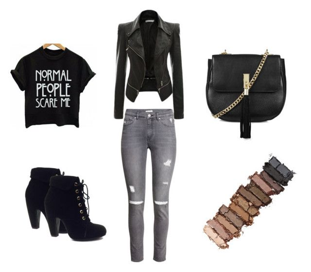 """""""Untitled #7"""" by adriana-elena-pusco on Polyvore featuring H&M, Bamboo, Topshop and Urban Decay"""