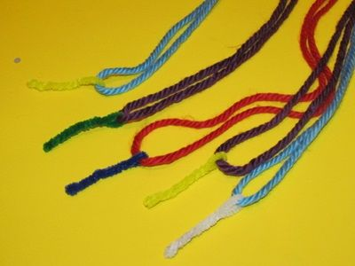 Pipe cleaner needles for preschooler sewing - great for fine motor skills - from teachpreschool.org - Re-pinned by @PediaStaff – Please Visit http://ht.ly/63sNt for all our pediatric therapy pins