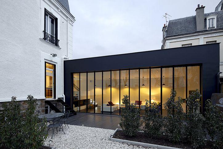 Annuaire architectes Avivre - projet : KRYSTAL HOUSE / RENOVATION-EXTENSION DUNE MAISON XIXE