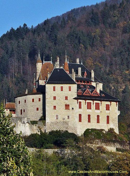 Château de Menthon Saint-Bernard , above the lac d'Annecy, Haute-Savoie, France. - www.castlesandmanorhouses.com