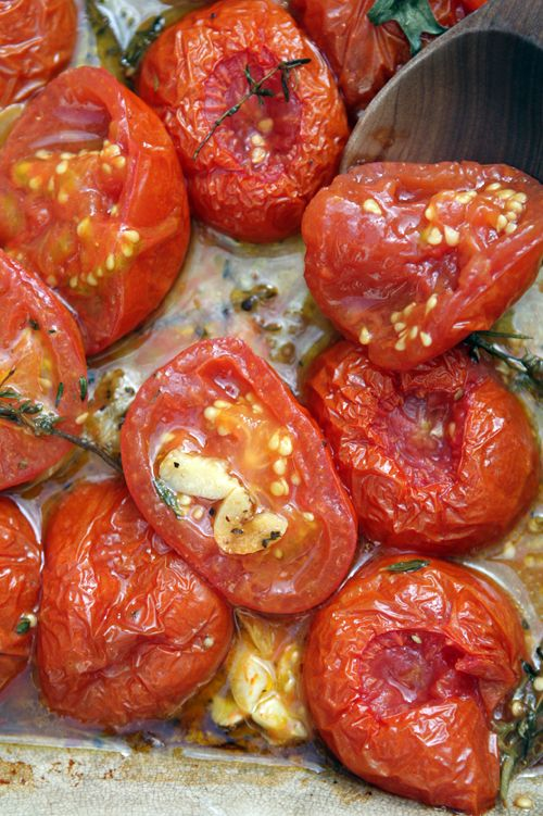 Oven-Roasted Tomato Recipe-great way to concentrate the flavor of tomatoes. Use for pasta, lasagna or on pizza. www.davidlebovitz.com