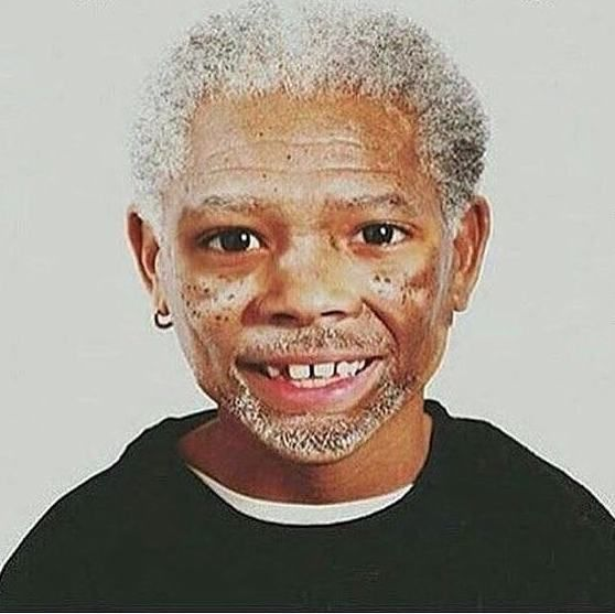 Very young Morgan Freeman:)