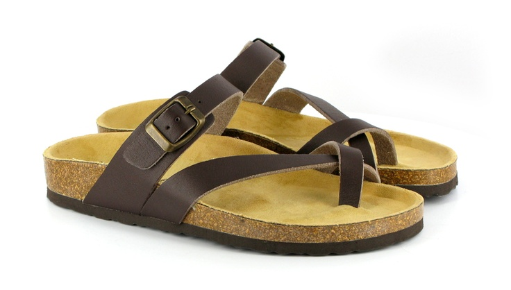 Cork + rubber brown sandals from Vegetarian Shoes