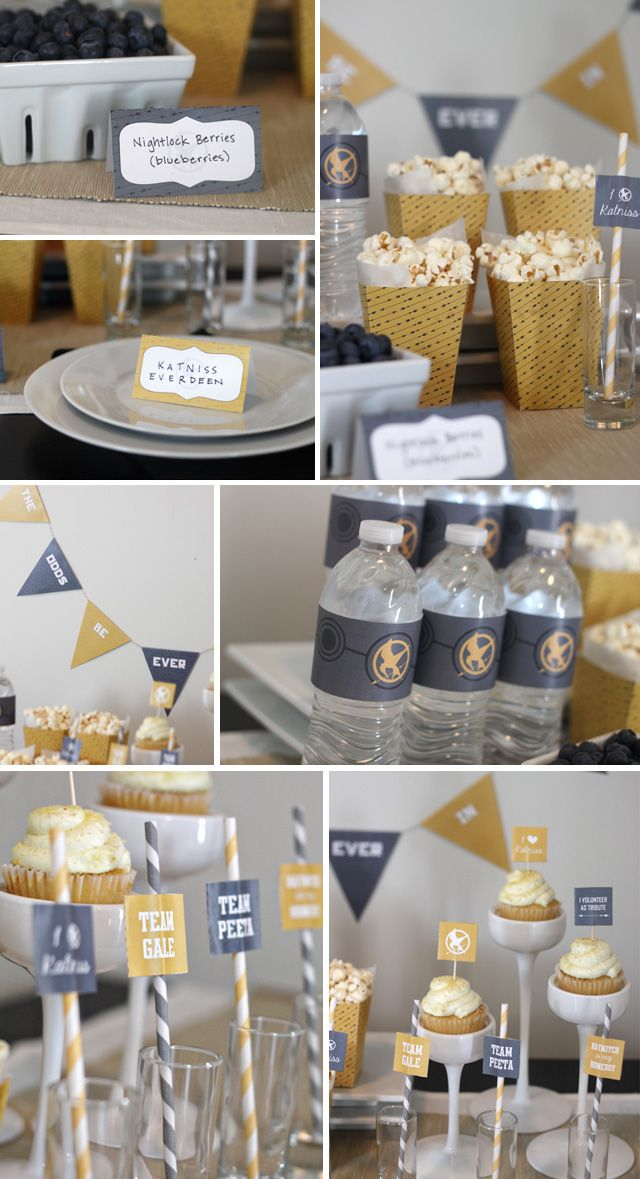 HungerGamesPrintables - Love these as another option!  I really like the water bottle labels. :)