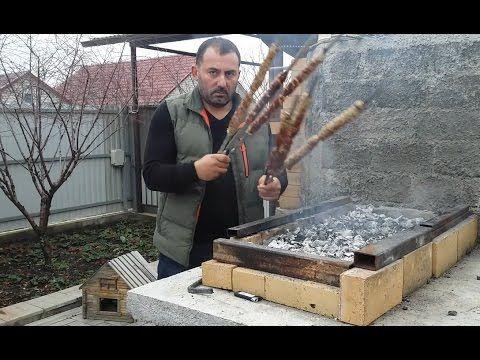 ЛЮЛЯ КЕБАБ на мангале. ШАШЛЫК по-кавказски - YouTube