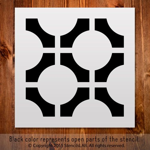 Geometric Stencil For DIY Projects. Small Stencil