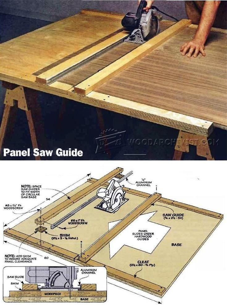DIY Circular Saw Guide - Circular Saw Tips, Jigs and Fixtures   WoodArchivist.com