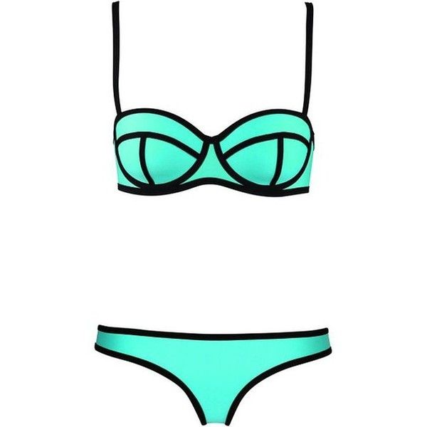 Imilano Women's Bright Bling Diving Suit Luxury Swim Suit Bikini Set... (£7.98) ❤ liked on Polyvore