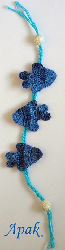 Fish bookmark: free pattern ✿⊱╮Teresa Restegui http://www.pinterest.com/teretegui/✿⊱╮
