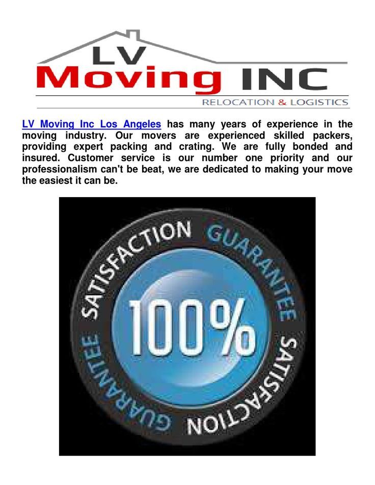 Moving Companies In Los Angeles ( L V Moving Inc Los Angeles )  Looking for Los Angeles movers and getting free quotes has never been easier; although, choosing the right  moving service can be a difficult process. LV Moving Inc Los Angeles has many years of experience in the moving industry. Our movers are experienced skilled packers and movers, providing expert packing and Moving services. LV Moving Inc has highly trained professionals who can help you every step in the moving process…