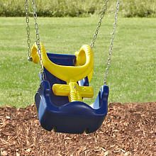 This adapted swing seat is available at toysrus and is for Extra wide swing seat