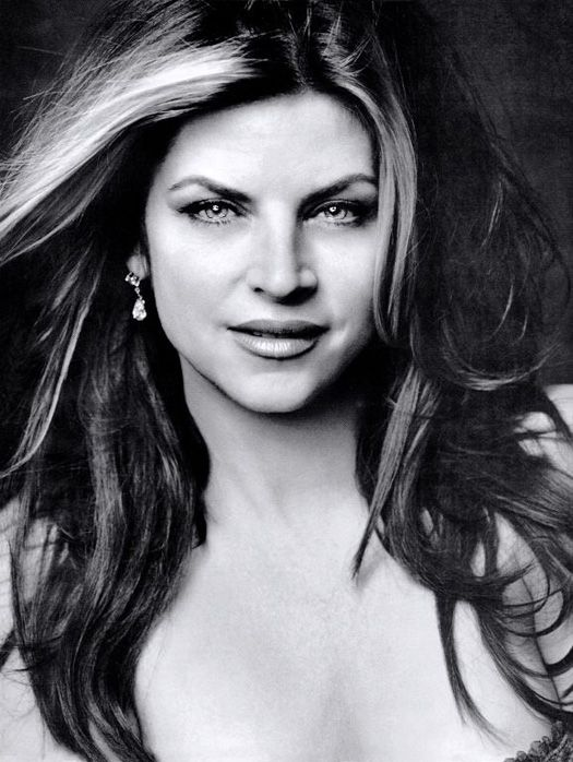 Kirstie Alley--is this not a beautiful picture of her?  Gorgeous lady.  I am unafraid of getting older because of her ageless beauty.