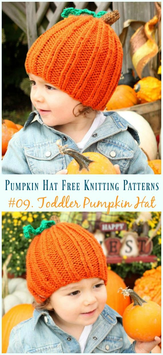 Toddler Pumpkin Hat Knitting Free Pattern -  Pumpkin   Hat  Free  Knitting   Patterns d4d7770ea67
