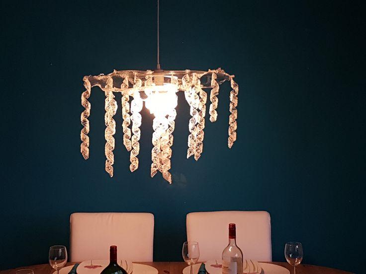 Trend Handgemachte Lampe aus Acrylglas Spirale Plexiglas Lampe DIY Deckenlampe durchsichtig