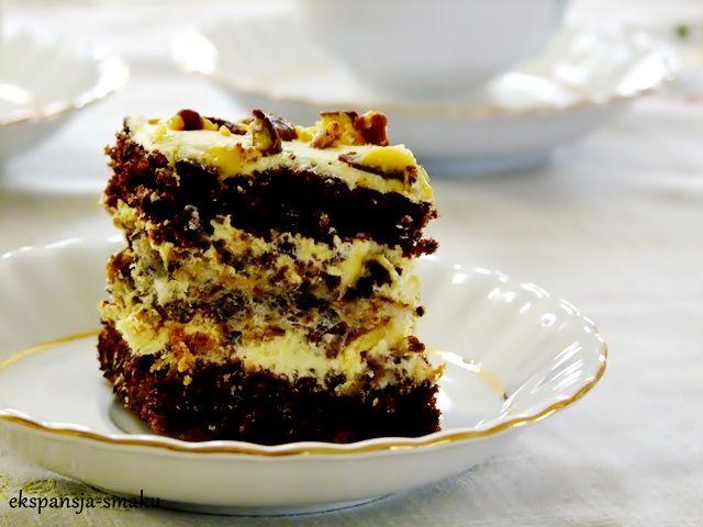 ciasto czekoladowe z masą budyniową