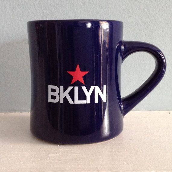 Hey, I found this really awesome Etsy listing at https://www.etsy.com/listing/235220135/brooklyn-diner-mug-blue-with-white-bklyn