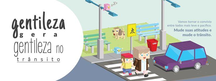 Campanha Criada pela Agência Conceito sobre a Semana Nacional de Trânsito para o Cliente Auto União.