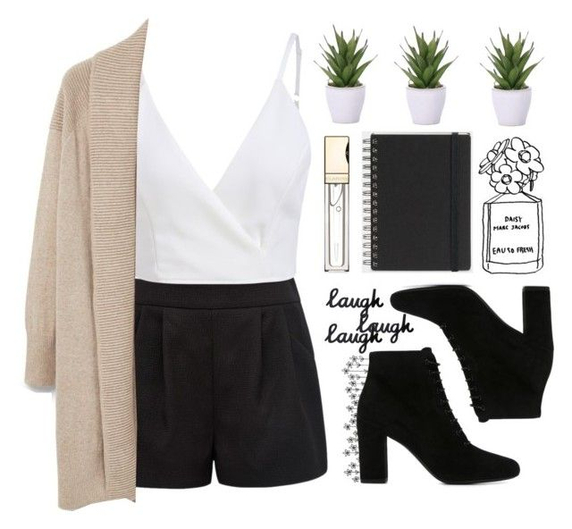 """""""drama."""" by escap3-from-reality ❤ liked on Polyvore featuring Forever New, Yves Saint Laurent, MANGO, Muji, Lux-Art Silks and Clarins"""
