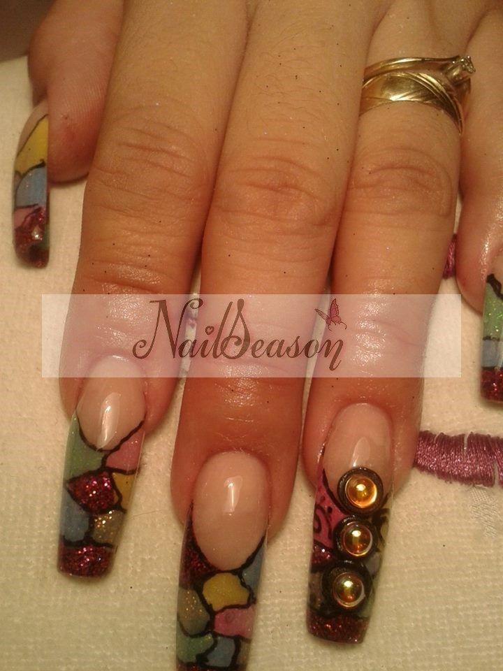 8 best gota de arte images on pinterest art nail art - Decorados de unas ...