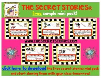 Cute and short 'secret stories' to help kids remember all the tricky phonics sounds!